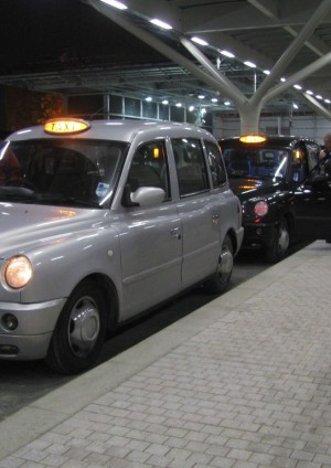 Photo of London taxis in newly opened taxi facility at Paddington station