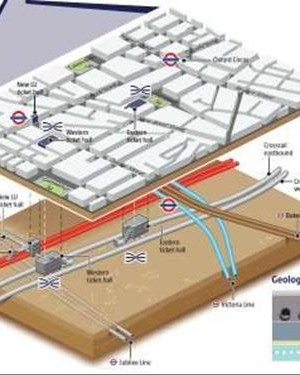 Crossrail Western Running Tunnels. Crossing of London Underground: Victoria Line and Bakerloo Line Assets.