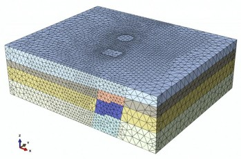 7C-010_Fig 02_Finite Element Mesh and Extent of the 3D Model