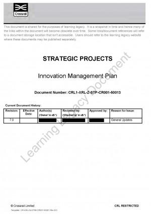 Innovation Management Plan
