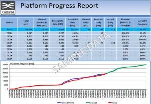 Figure 2 Platform Progress Report