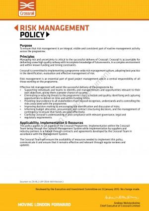 Risk management for british telecom