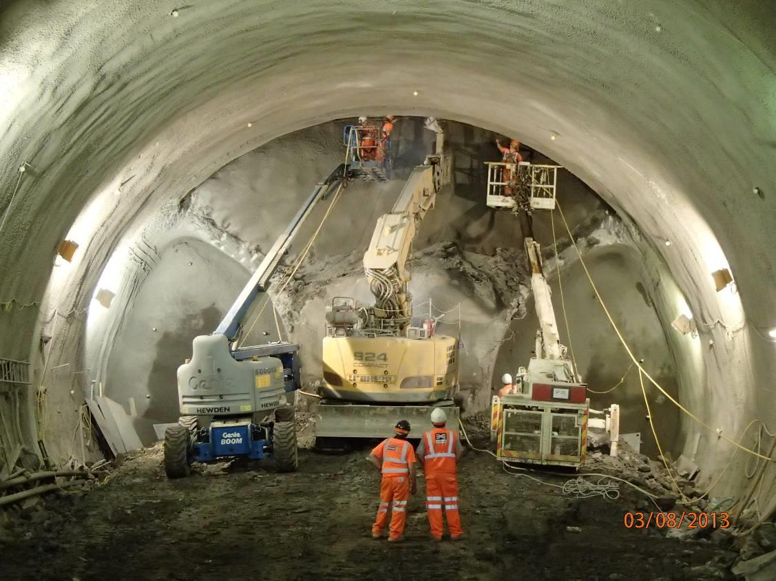 Design And Construction Of Crossrail Stepney Green Sprayed