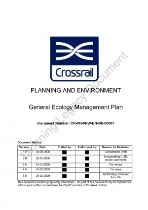 General Ecology Management Plan