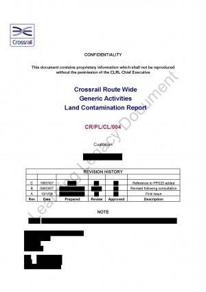 Crossrail Route Wide Generic Activities Land Contamination Report
