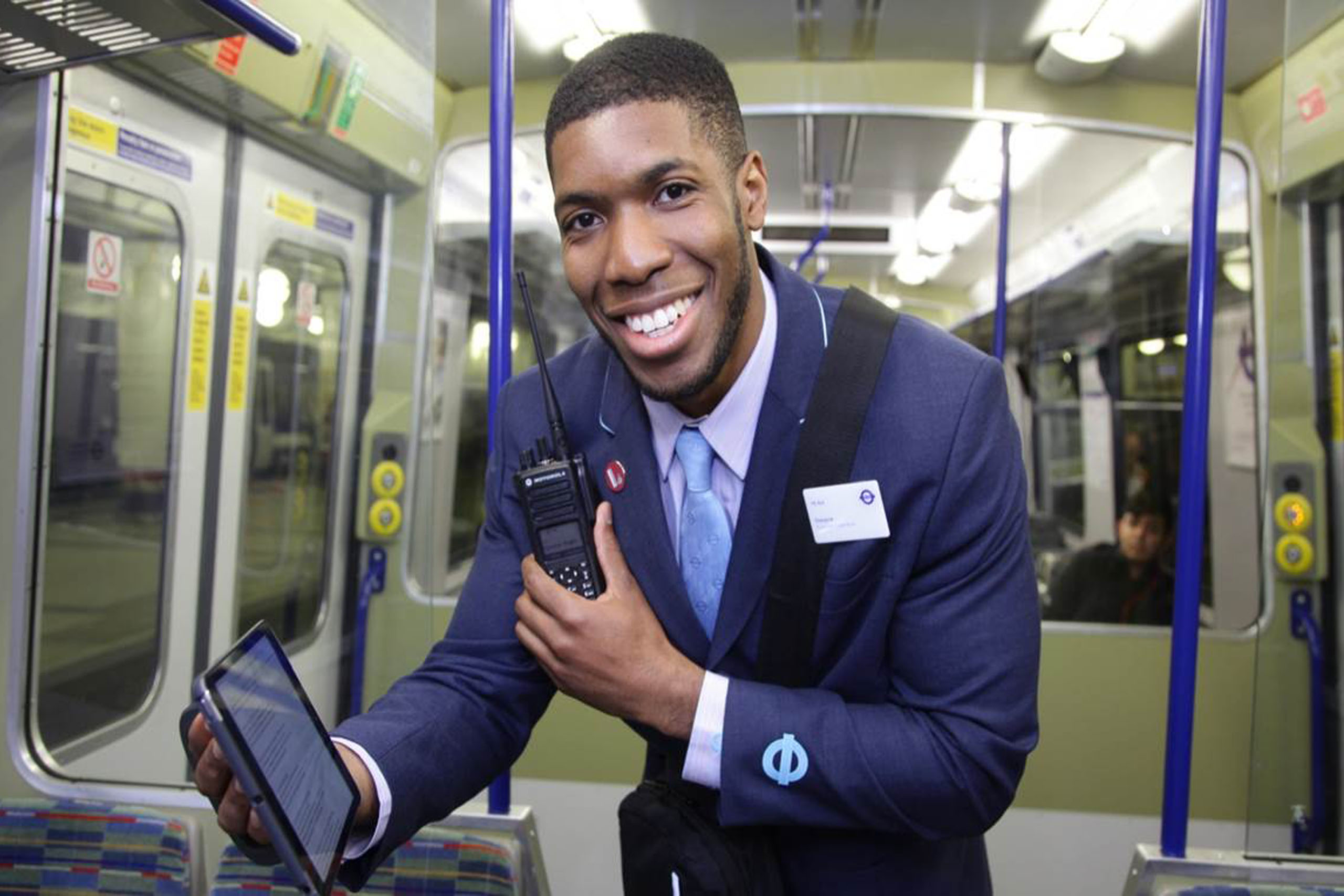 Photo of a TfL Rail member of staff