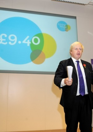 Photo of Mayor of London Boris Johnson at event launching London Living Wage