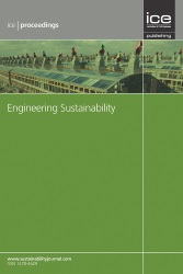 Front cover of ICE Proceedings journal Engineering Sustainability