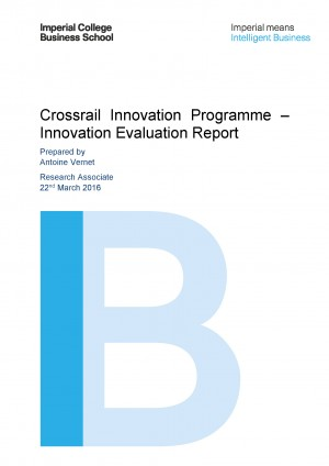 Front cover of Crossrail Innovation Programme Innovation Evaluation Report