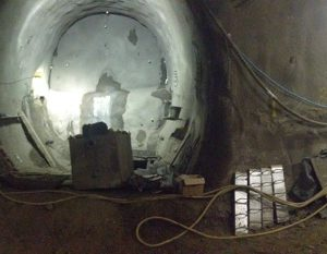 Temporary Sprayed Concrete Lining Tunnels in Farringdon Crossrail Station