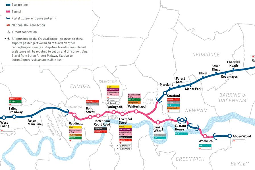 Figure 1. Crossrail central stations