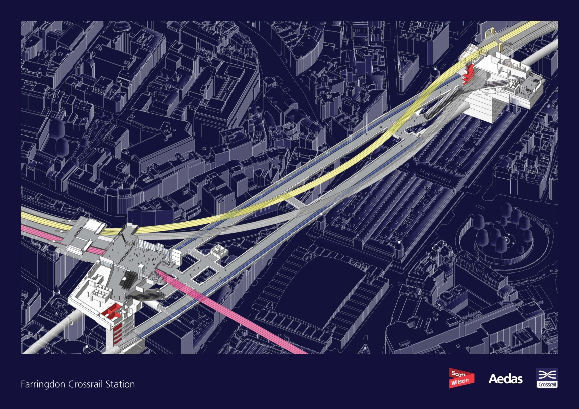 Figure 2. The Farringdon Crossrail Station