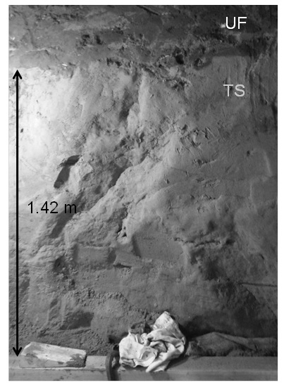 Figure 10. Photograph of TS in excavation for Cross Passage 13