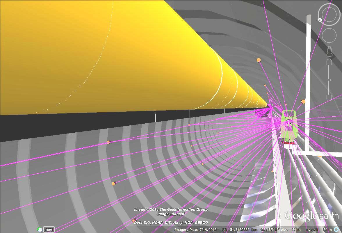 Figure 6. Virtual Modelling of Tunnel Environment