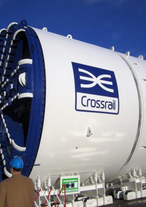 Photo of Crossrail Tunnel Boring Machine shield and cutter head at Herrenknecht factory