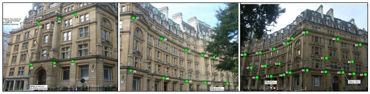 Figure 2. Salisbury House facade Prism distribution, from CRL internal documents