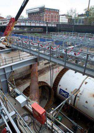 Crossrail Tunnel Boring Machine launch and reception arrangements