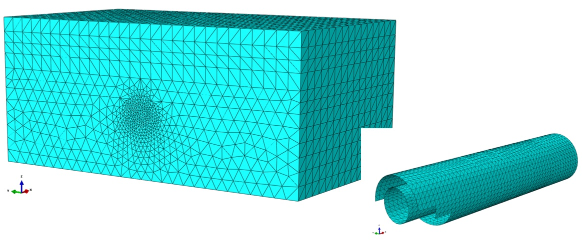 a. 3D FE back analysis model