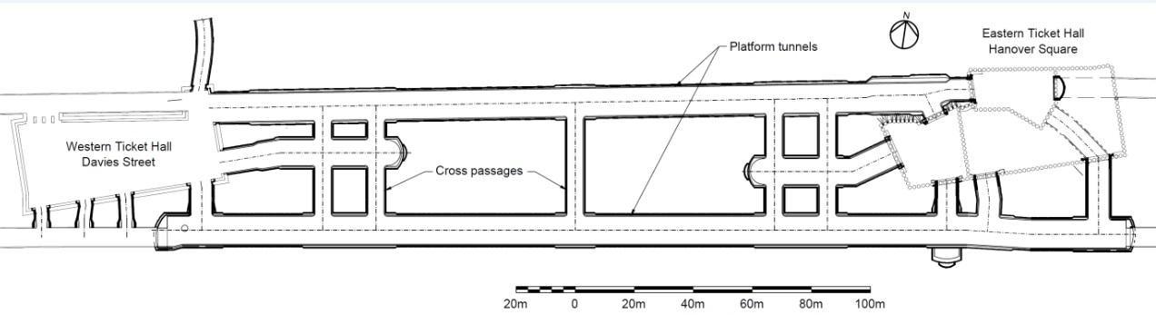 Figure 2 - Plan of Bond Street Station
