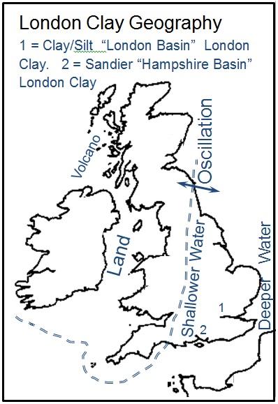 Figure 3 - London Clay Paleogeography