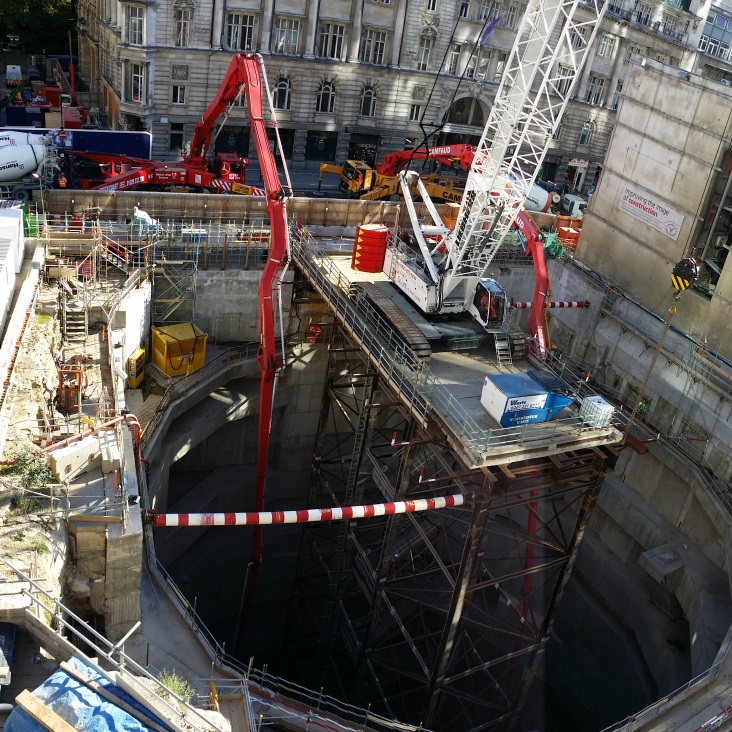 Figure 22 - The two 63m reach pumps on Moorgate