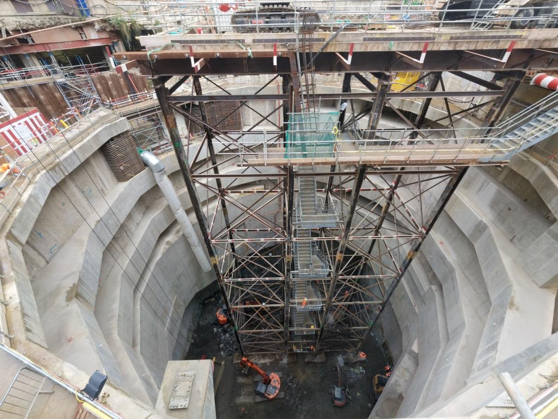 Figure 12 - Moorgate shaft excavation to 71.250 m ATD