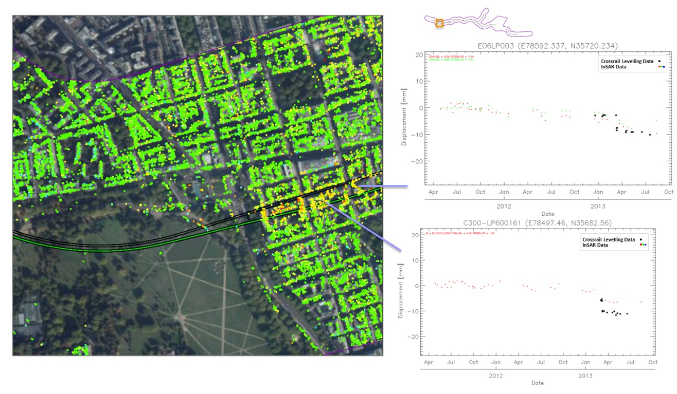 Figure 12 - Selected TS from the correlation study of both techniques in the proximity of the junction of N. Audley St. and Lees Pl.