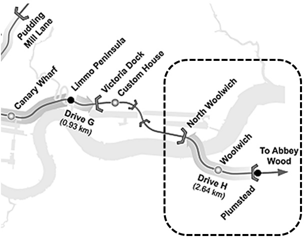 Figure 1 - Contract C310 Thames Tunnel