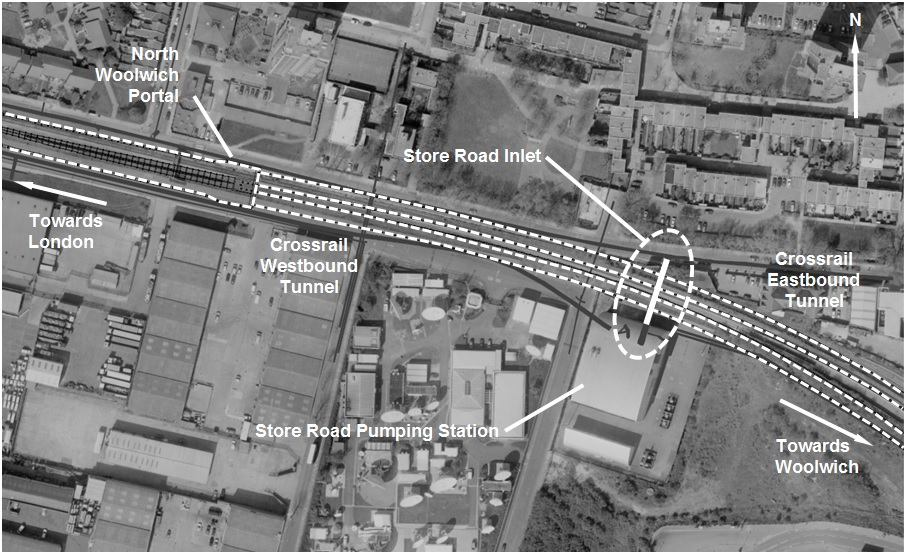 Figure 3 - Location of Store Road Inlet
