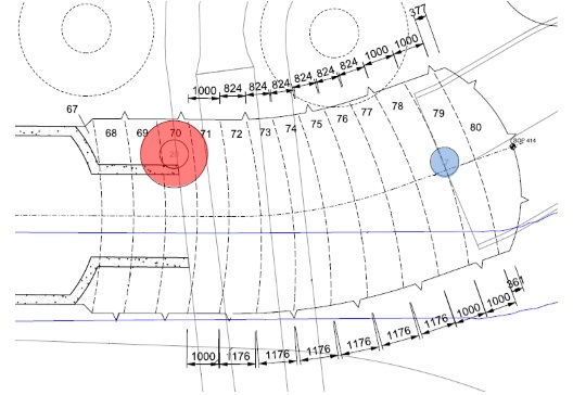 (a) Plan view of AP1 and piles 17 and 21