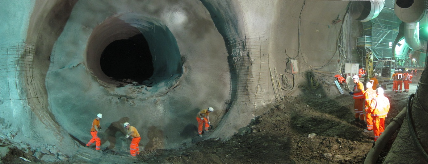 Figure 2 - Whitechapel Station. PTW–W; completed Pilot Tunnel and start of Enlargement.