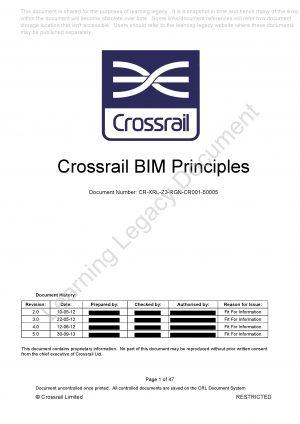 Crossrail BIM Principles