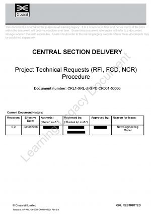 Project Technical Requests Procedure