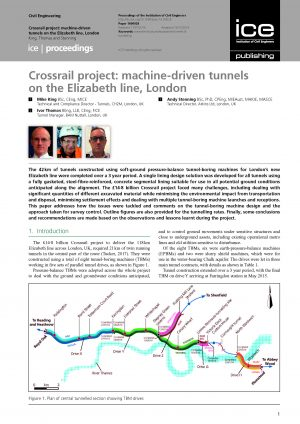 Crossrail project: machine-driven tunnels on the Elizabeth line, London