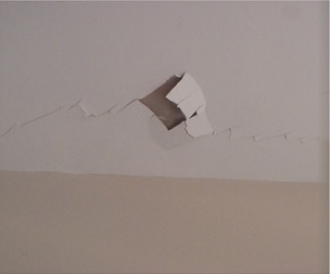 Plate 2b - Cracks observed in ceiling at South Molton Street
