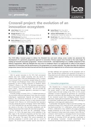 Crossrail Project: The Evolution of an Innovation Ecosystem