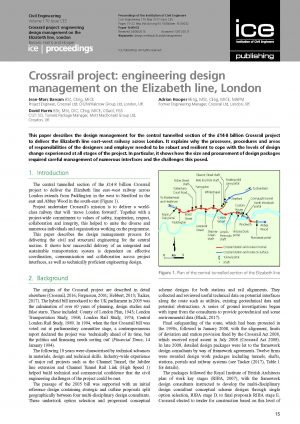 Crossrail project: engineering design management on the Elizabeth line, London