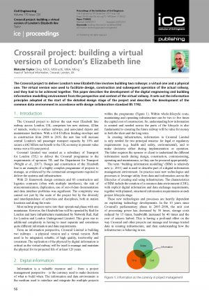 Crossrail: Building a Virtual Version of London's Elizabeth line – The Development of the BIM Environment