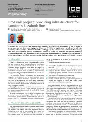 Procuring infrastructure for London's Elizabeth line