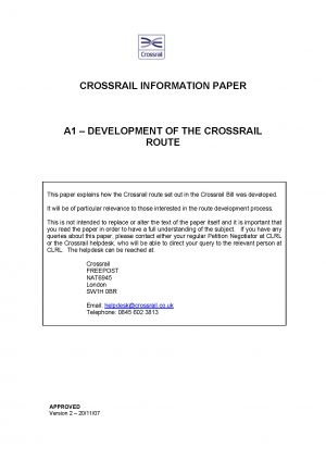 Crossrail Information Papers