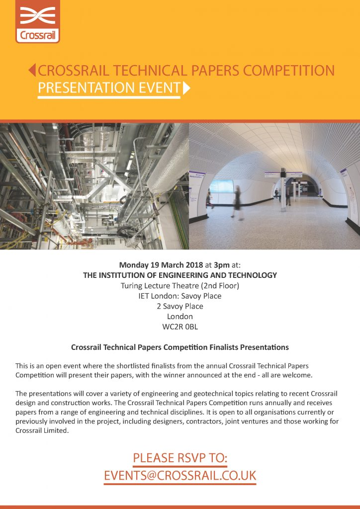 Crossrail Technical Papers Competition Presentation Event