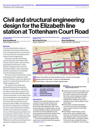 Civil and structural engineering design for the Elizabeth line station at Tottenham Court Road