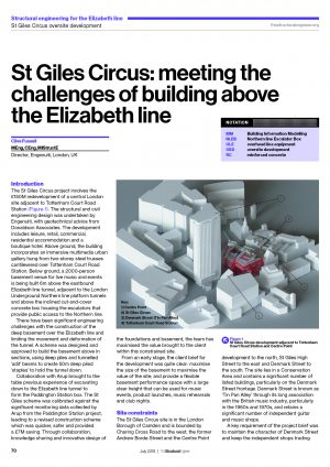 St Giles Circus: meeting the challenges of building above the Elizabeth line