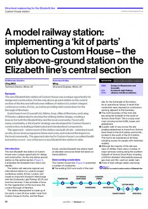 1f099c59c A model railway station  implementing a  kit of parts  solution to Custom  House – the only above-ground station on the Elizabeth line s central  section