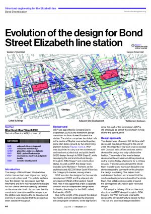 Evolution of the design for Bond Street Elizabeth line station
