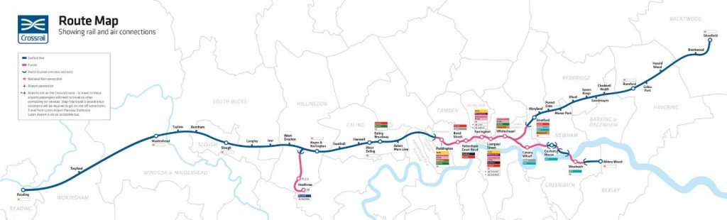 Crossrail route map