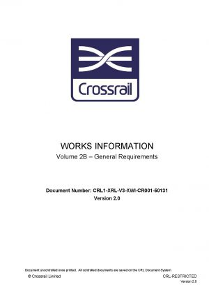 Crossrail Systems Contract Works Information Part 2B